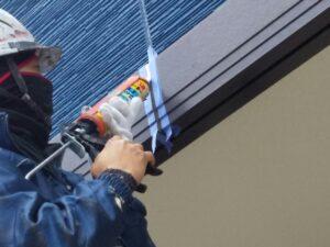 外壁のシーリングを補修しました。