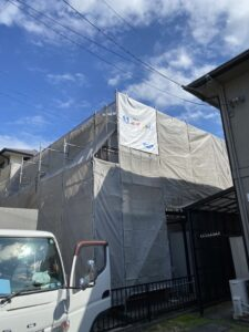 松江市内の塗替え現場
