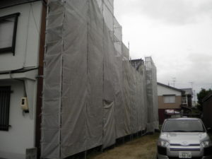松江市にて外壁塗替え工事