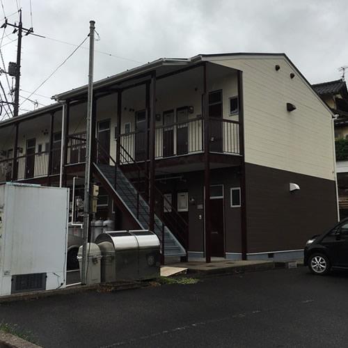 西川津アパート施工後